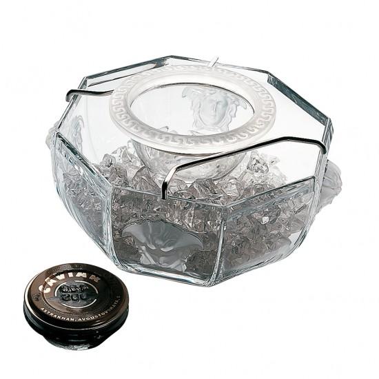 Rosenthal Versace Medusa Lumière Coppa caviale 3 pz.