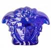 Rosenthal Versace Medusa Lumière Blue Paperweight