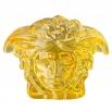 Rosenthal Versace Medusa Lumière Amber Paperweight