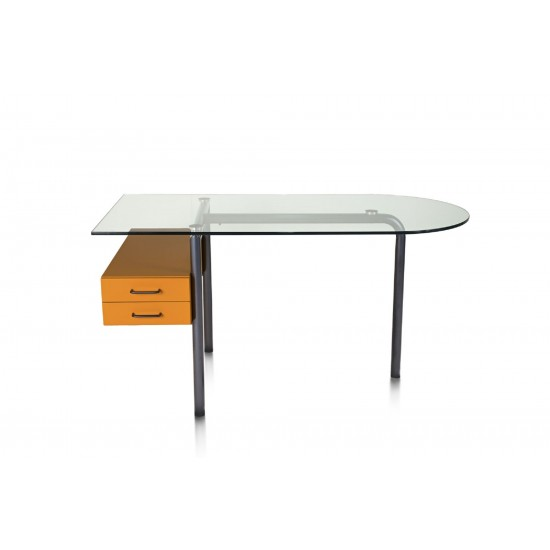 HALIFAX MIRTO DESK WITH GLASS TOP