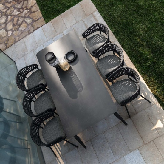 Talenti Moon Alu extending dining table