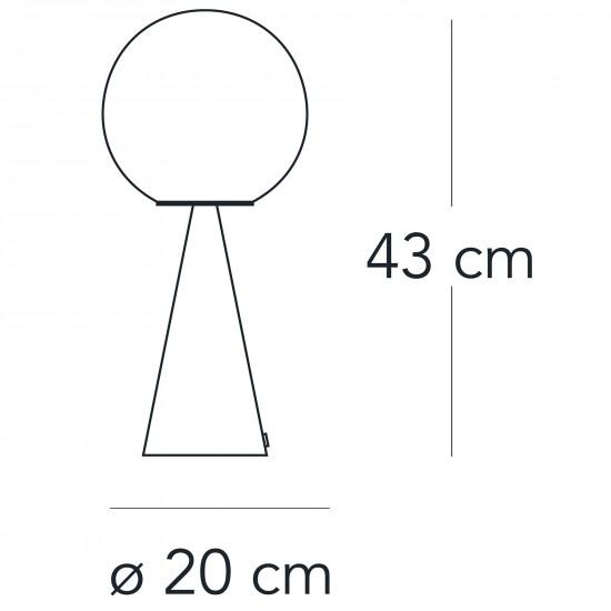 FontanaArte BILIA lampada da tavolo