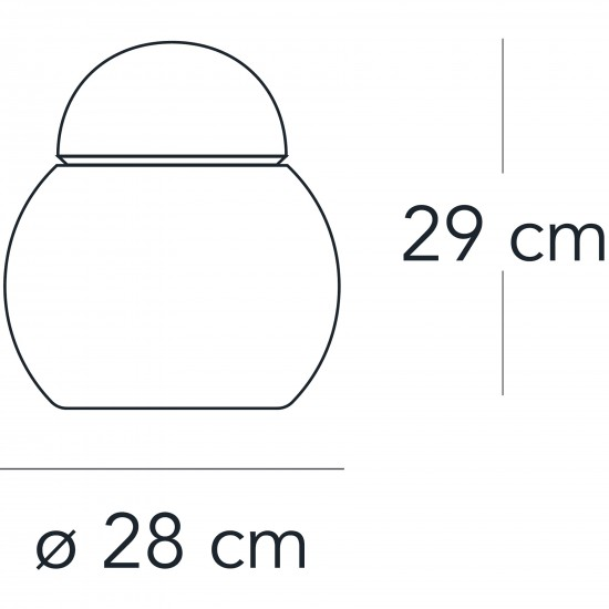 FontanaArte DARUMA lampada da tavolo