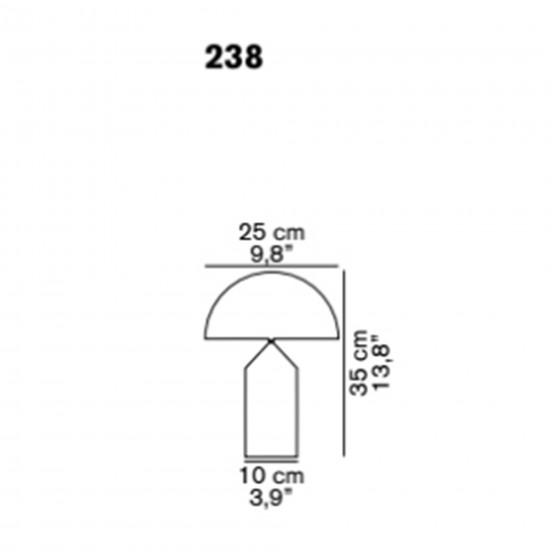 OLuce Atollo 238 Table Lamp