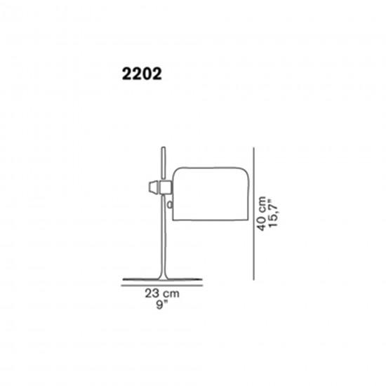 OLuce Coupé 2202 Table Lamp