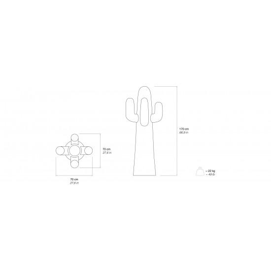 Gufram Cactus Rossocactus Appendiabiti