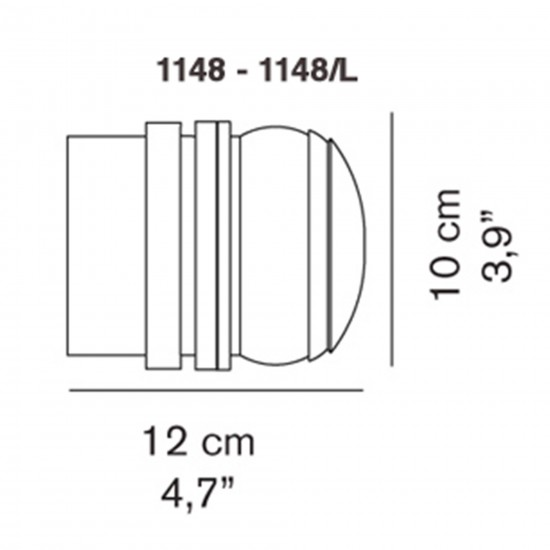 OLuce Fresnel 1148 Wall lamp
