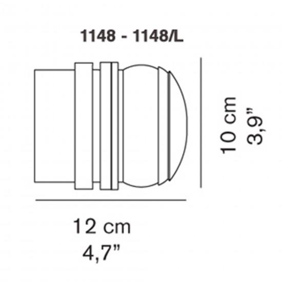 OLuce Fresnel 1148/LBT Wall lamp