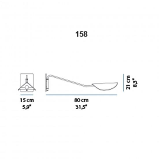 OLuce Plume 158 Wall lamp