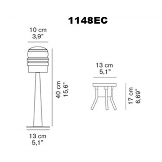 OLuce Fresnel 1148EC Outdoor lamp