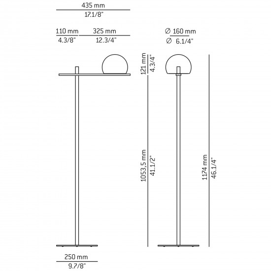 Estiluz Circ floor lamp