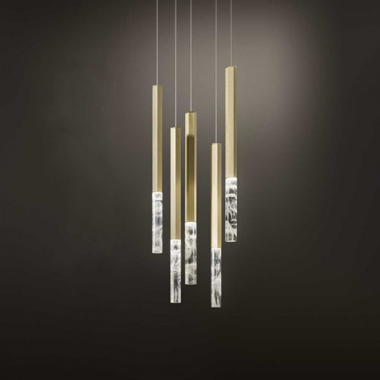 Olev Shine Vertical Plumage Suspension Lamp