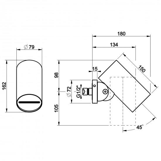 Gessi Spotwater wall-mounted showerhead