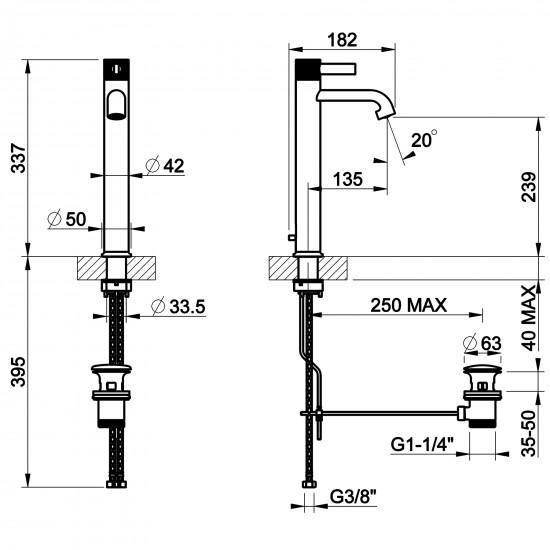 Gessi Inciso high basin mixer