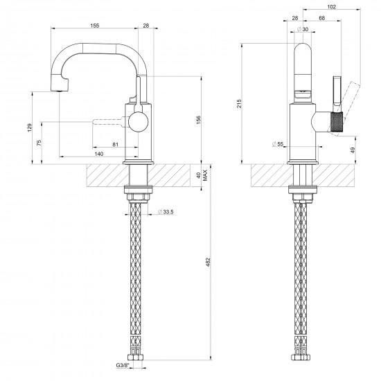Gessi Inciso basin mixer