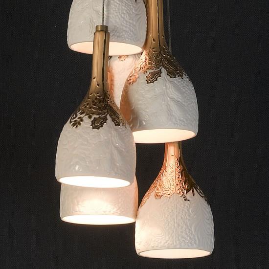 Lladró Naturofantastic 6 lights Suspension Lamp