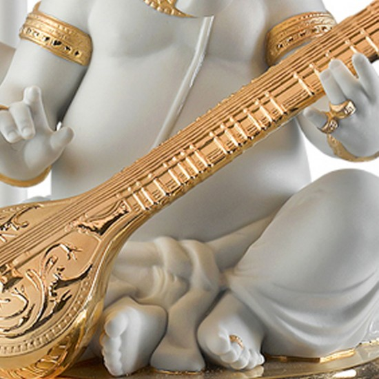 Lladró Ganesha con veena Lampada da tavolo