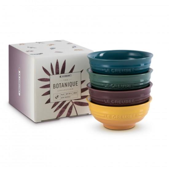 Le Creuset Set of 4 Mini Bowl Botanique