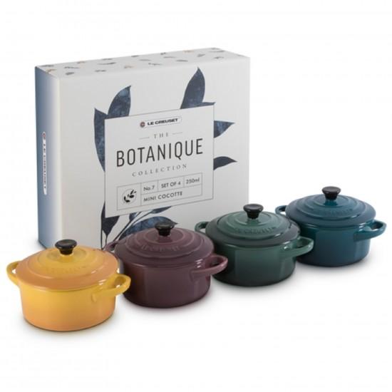 Le Creuset Set of 4 Mini Cocotte Botanique