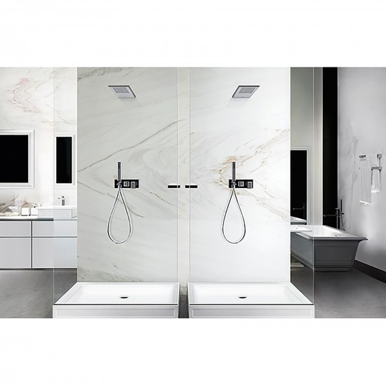 Gessi Eleganza wall-mounted showerhead