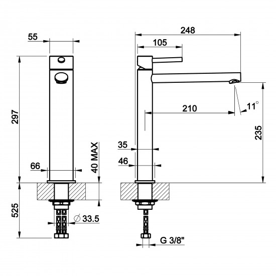 Gessi Ovale high basin mixer