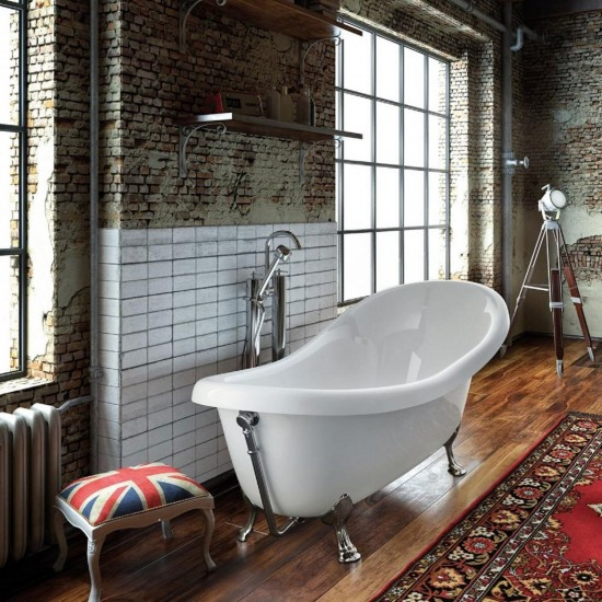 GLASS OLD ENGLAND FREESTANDING BATHTUB