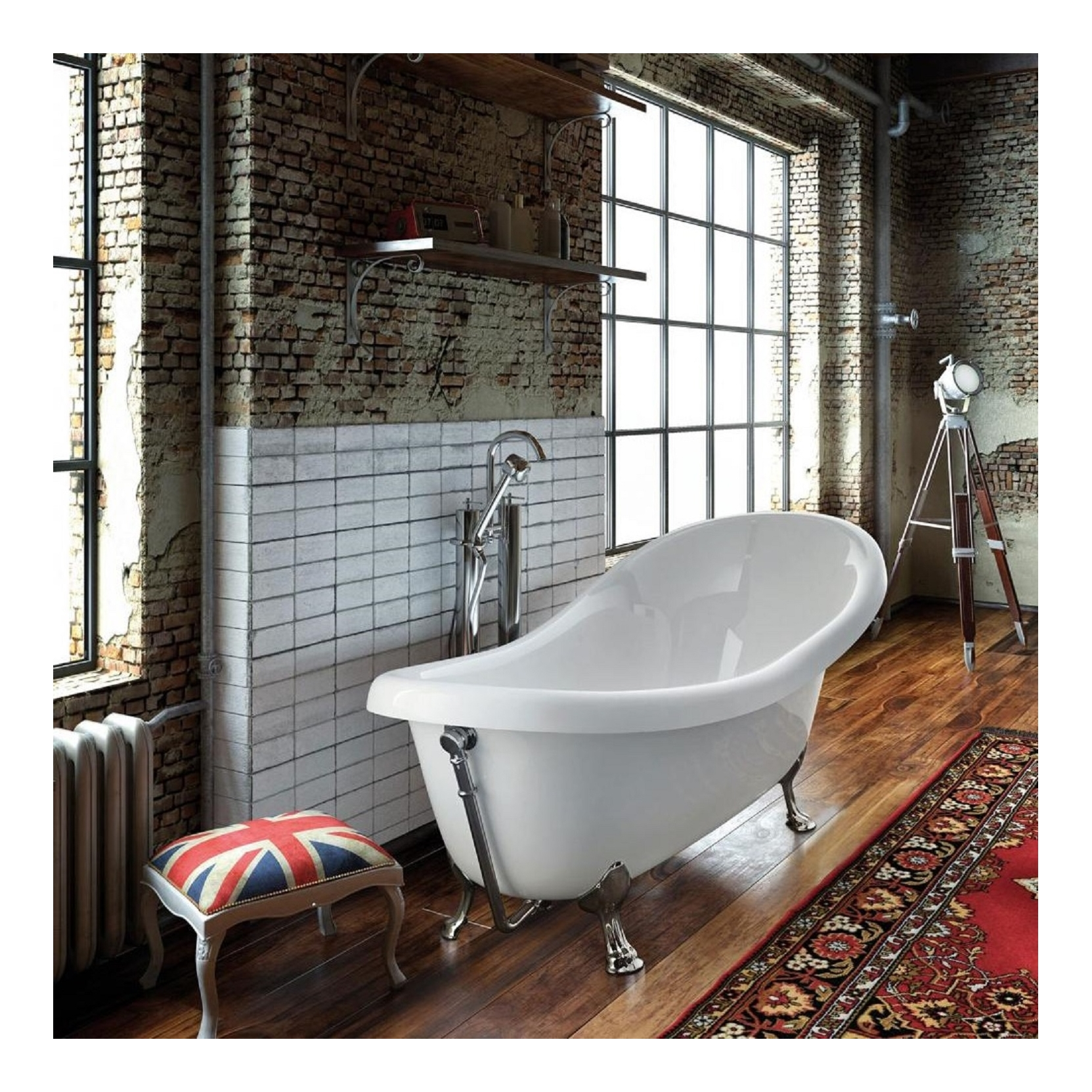GLASS OLD ENGLAND FREESTANDING BATHTUB - TattaHome