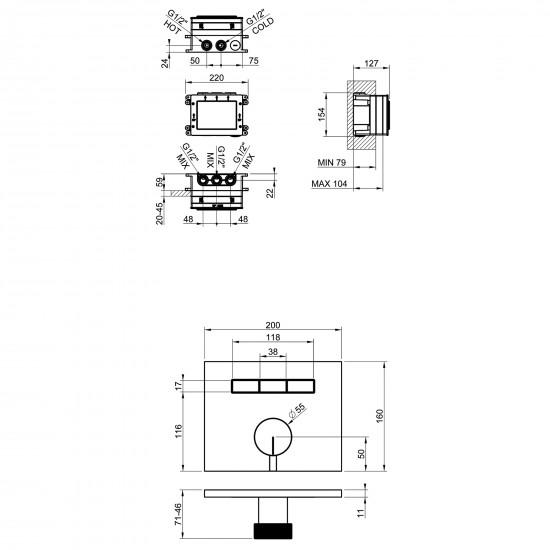 Gessi Hi-Fi Mixer Thermostatic Mixer 63081
