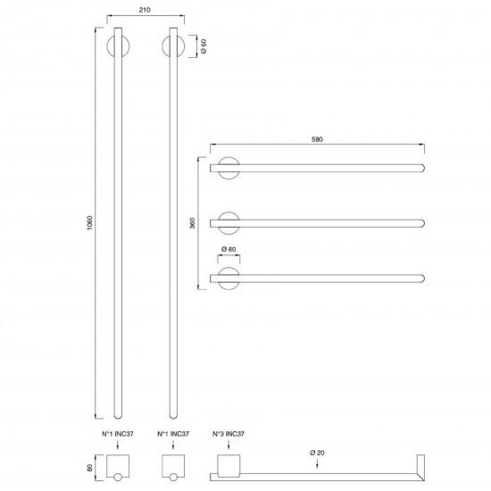 Ceadesign Equilibrio Electric Towel Warmer