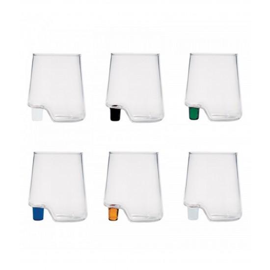Zafferano Gamba de Vero Set 6 Glass Assorted Colours