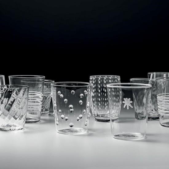 Zafferano Melting Pot Set 6 Glass Assorted Clear