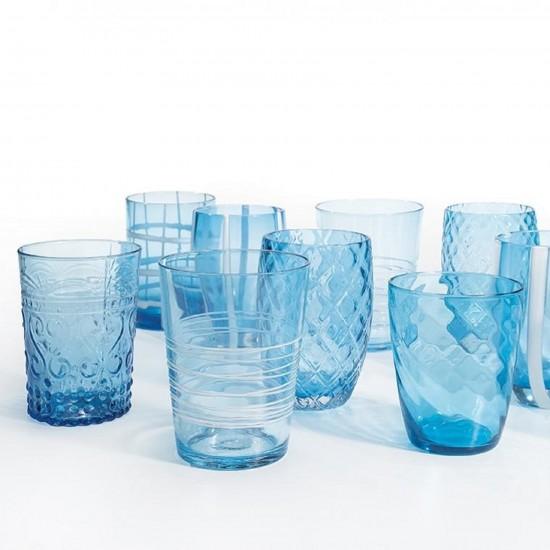 Zafferano Melting Pot Set 6 Glass Assorted Aquamarine