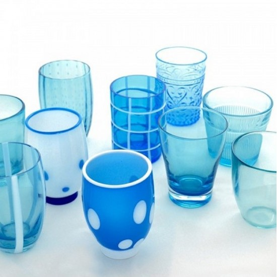 Zafferano Melting Pot Set 6 Bicchieri Acquamarina