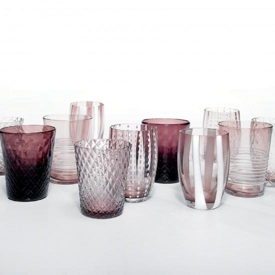 Zafferano Melting Pot Set 6 Glass Assorted Amethyst