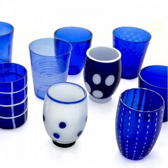 Zafferano Melting Pot Set 6 Bicchieri Blu