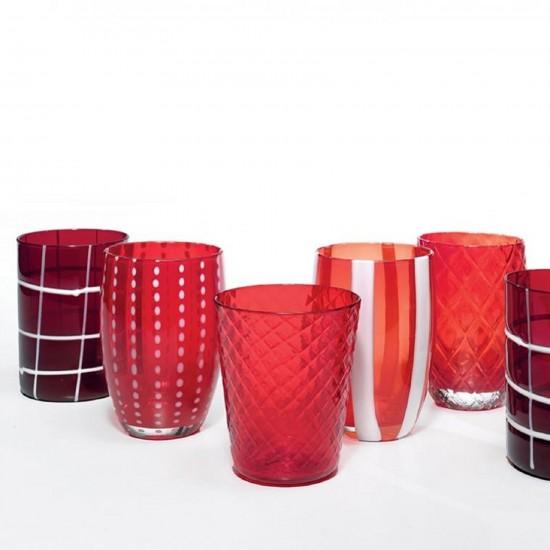 Zafferano Melting Pot Set 6 Bicchieri Rosso
