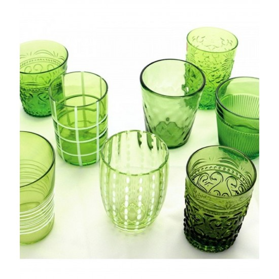 Zafferano Melting Pot Set 6 Bicchieri Verde