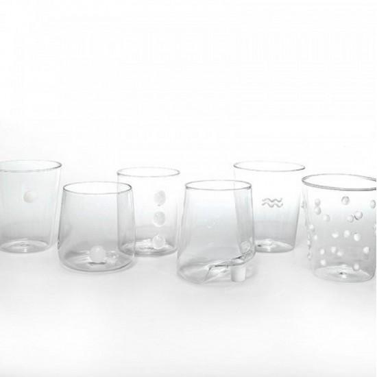 Zafferano Melting Pot Set 6 Glass Assorted White
