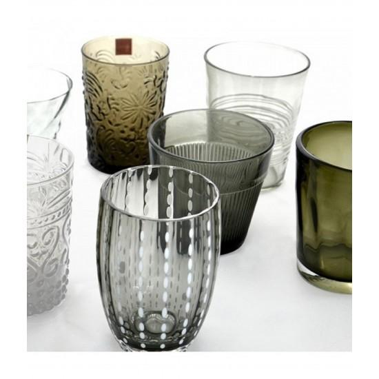 Zafferano Melting Pot Set 6 Bicchieri Grigio-Trasparente