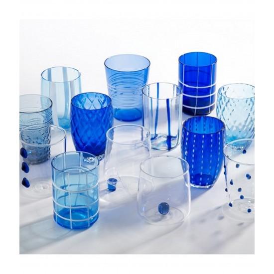 Zafferano Melting Pot Set 6 Bicchieri Blu-Acquamarina