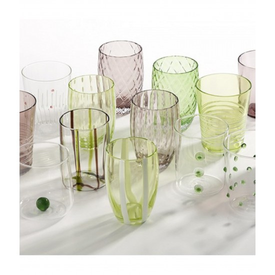 Zafferano Melting Pot Set 6 Bicchieri Verde-Ametista