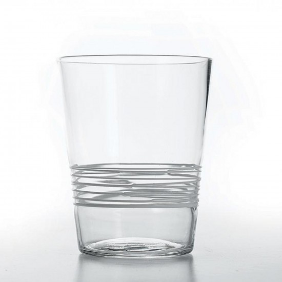 Zafferano Filante Set 6 Bicchieri Trasparente