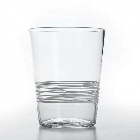 Zafferano Filante Set 6 Glass Clear