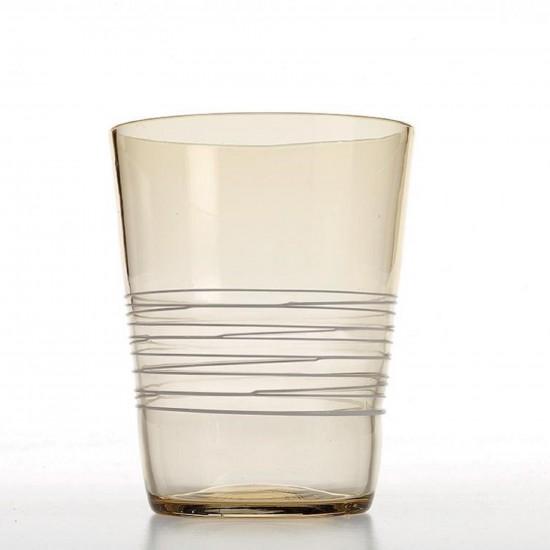 Zafferano Filante Set 6 Bicchieri Acquamarina