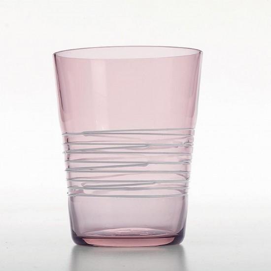 Zafferano Filante Set 6 Glass Amethyst