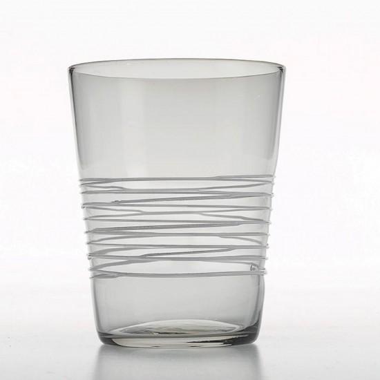 Zafferano Filante Set 6 Bicchieri Grigio