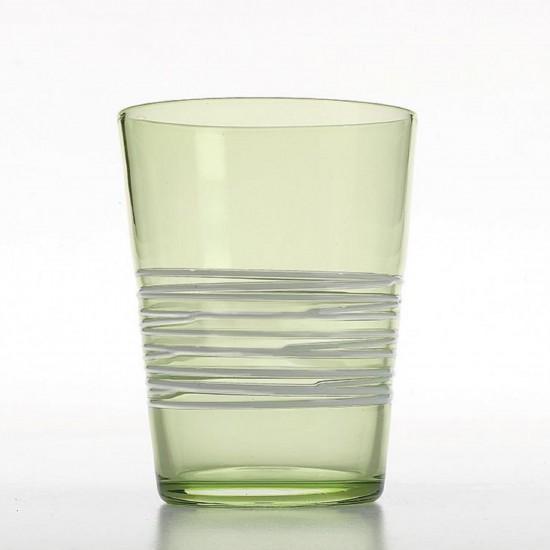 Zafferano Filante Set 6 Bicchieri Verde