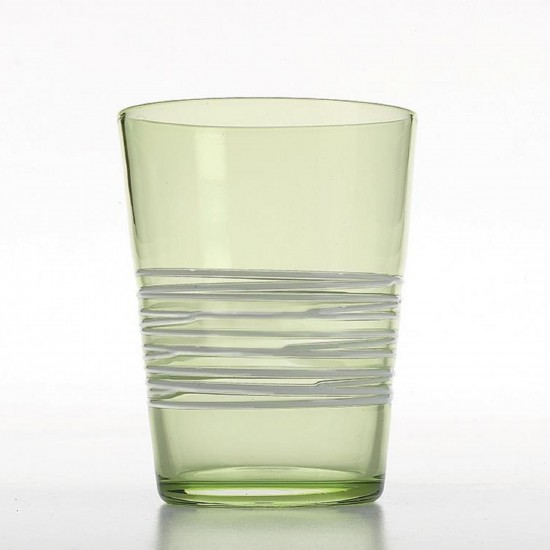 Zafferano Filante Set 6 Glass Green