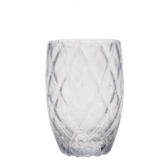 Zafferano Losanghe Set 6 Bicchieri Trasparente