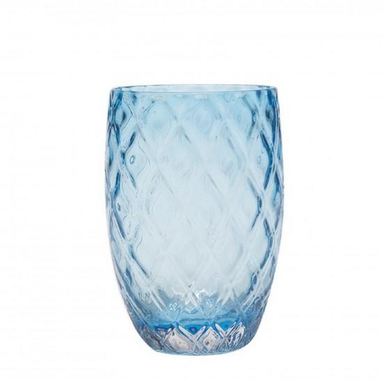 Zafferano Losanghe Set 6 Bicchieri Acquamarina